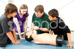 Oxygen Mask For CPR Stock Photos