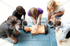 Teenagers Practice CPR Stock Photos