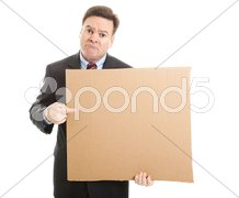 Businessman Unemployed and Desperate Stock Photos