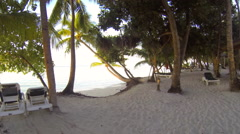 Walking on the beach on a tropical island Stock Footage