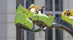 Amusement Park Ride Spinning Stock Footage