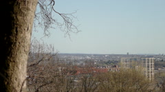 View Of London Skyline From Alexandra Palace HD 1080p Stock Footage