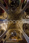 Interior of Cathedral of Santa Maria, Caceres, Extremadura, Spain Stock Photos