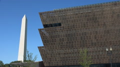 Detailed scrim of Museum of African American History and Culture, DC Stock Footage