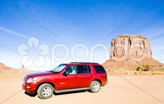 Off road, Merrick Butte, Monument Valley National Park, Utah-Arizona, USA Stock Photos