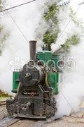 Steam locomotive, Museum of Kysuce village, Vychylovka, Slovakia Stock Photos