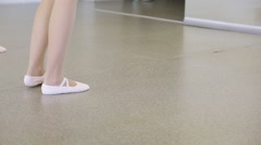 Close up view of women preparing for dance class Stock Footage