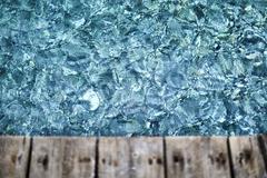 Sparkling blue water below deck Stock Photos