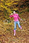 Woman in autumnal nature Stock Photos