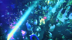 Young people dancing at a party in a discotheque Stock Footage