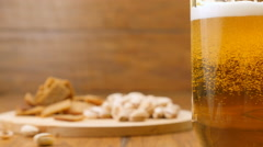 Pouring a glass of light beer Stock Footage