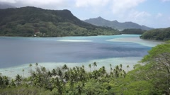Huahine island landscape French Polynesia Stock Footage