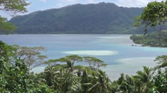 Landscape Huahine island French Polynesia Stock Footage