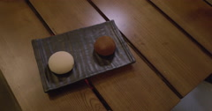 Taking picture of Mochi dessert with mobile phone Stock Footage