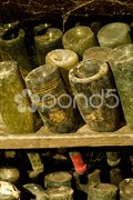 Wine archive, Chateau de Cary Potet (wine cellar), Buxy, Burgundy, France Stock Photos