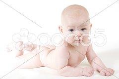 Lying baby Stock Photos
