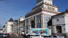 Kazansky railway station in Moscow Stock Footage