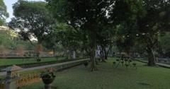 Garden in the Temple of Confucius. Hanoi, Vietnam Stock Footage