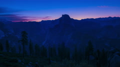 Sunrise at Half Dome Yosemite National Park Glacier Point Stock Footage