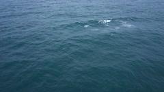 Flying over of open ocean - tilt footage Stock Footage