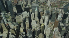USA Aerial view above New York City Stock Footage