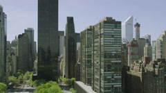 Video aerial view of New York City shot from Helicopter Stock Footage
