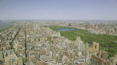 USA aerial view of Central Park New York Stock Footage