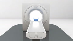 X-ray CT scanner, medical diagnosis technology.MRI,white.1 Stock Footage