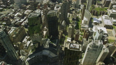 Video aerial view of Columbus Circle New York City Stock Footage