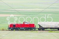 Train with motor locomotive, Lower Austria, Austria Kuvituskuvat