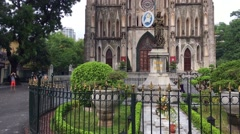 View of the Catholic St Joseph Cathedral Stock Footage