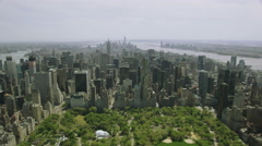 Aerial view of Central Park in New York City Stock Footage