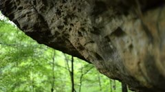 Sliding Shot of Textured Rock Face Stock Footage