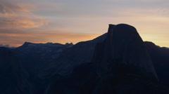 Yosemite National Park Sunrise Glacier Point Panning left Stock Footage