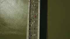 USA Aerial view of Tappan Zee Bridge New York Stock Footage
