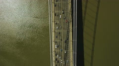 USA Aerial view of Tappan Zee Bridge New York City Stock Footage