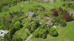 Aerial of Rockerfeller home New York Shot on RED Epic Stock Footage