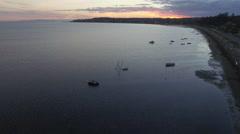 Sunset on the Bay Purple Light Stock Footage