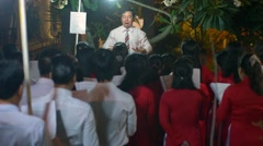 Gospel church choir singing peaceful songs at Easter mass Stock Footage