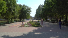 Town square and avenue. Stock Footage