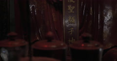 Statue inside the Temple of Confucius in Hanoi, Vietnam Stock Footage