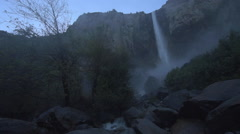 Bridalveil Falls Yosemite National Park Stock Footage