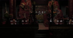 Inside the Temple of Confucius in Hanoi, Vietnam Stock Footage