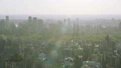 Aerial view of Central Park in New York City, United States of America Stock Footage