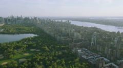 Aerial view of Central Park in New York City, Stock Footage