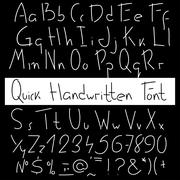 Quick handwritten font. Expression hand drawn letters Stock Illustration