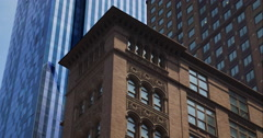 Group of old and and modern buildings in New York City Stock Footage