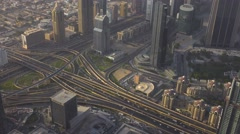 SHEIKH ZAYED ROAD HIGHWAY IN DUBAI Stock Footage