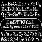 Vector old typewriter font. Vintage font. Old grunge font Stock Illustration