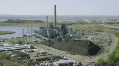 Aerial view of California Oil, Gas & Electricity industry. United States of Stock Footage
